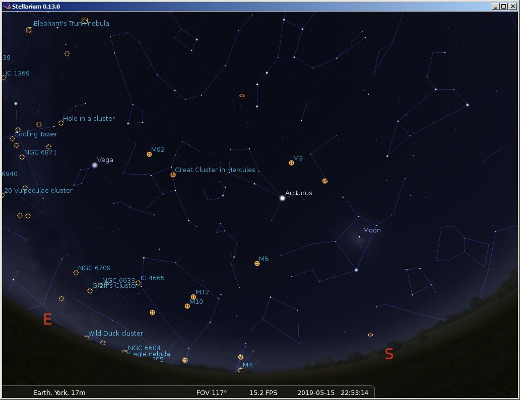 globular star chart