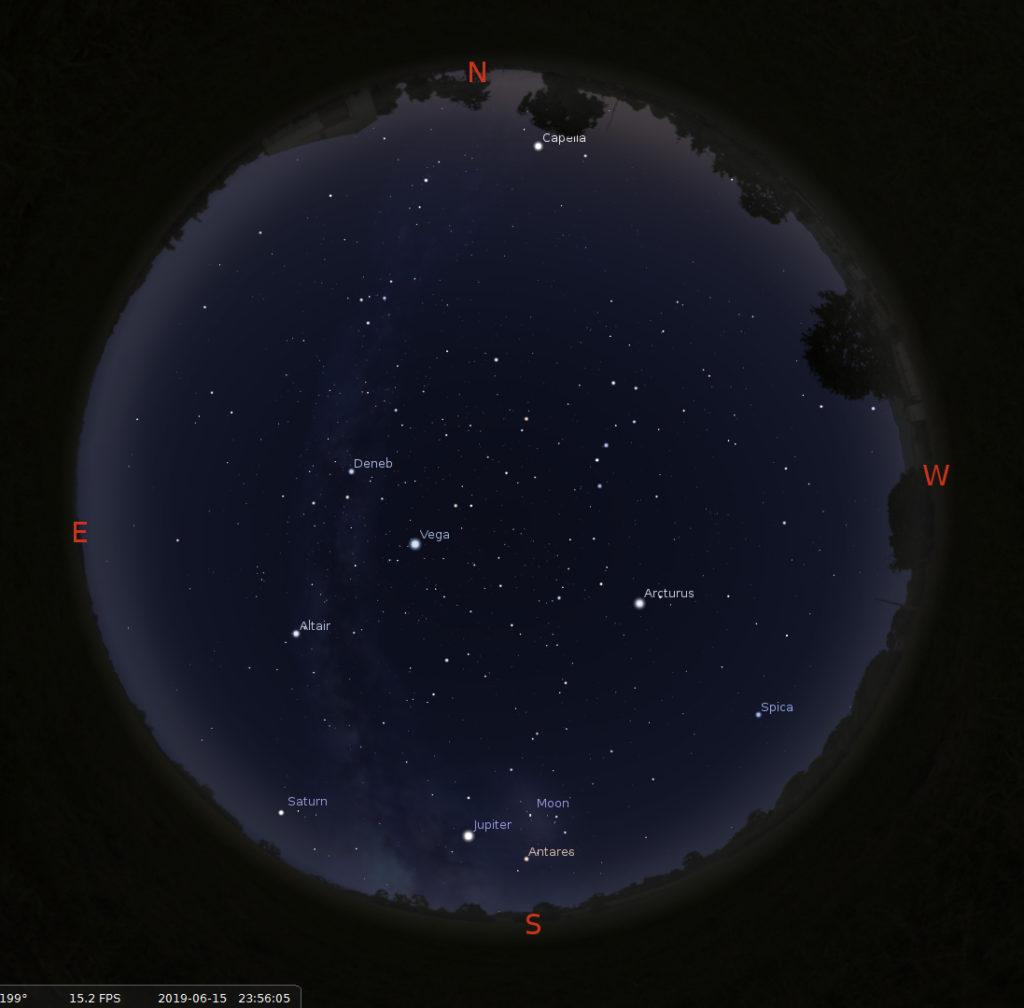 Midnight sky 15 June