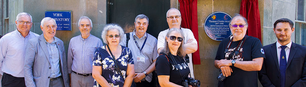 York Astronomical Society members at the Thomas Cooke plaque unveiling