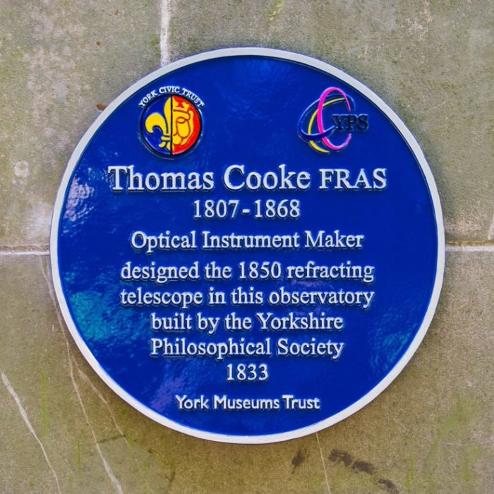 The Thomas Cooke plaque