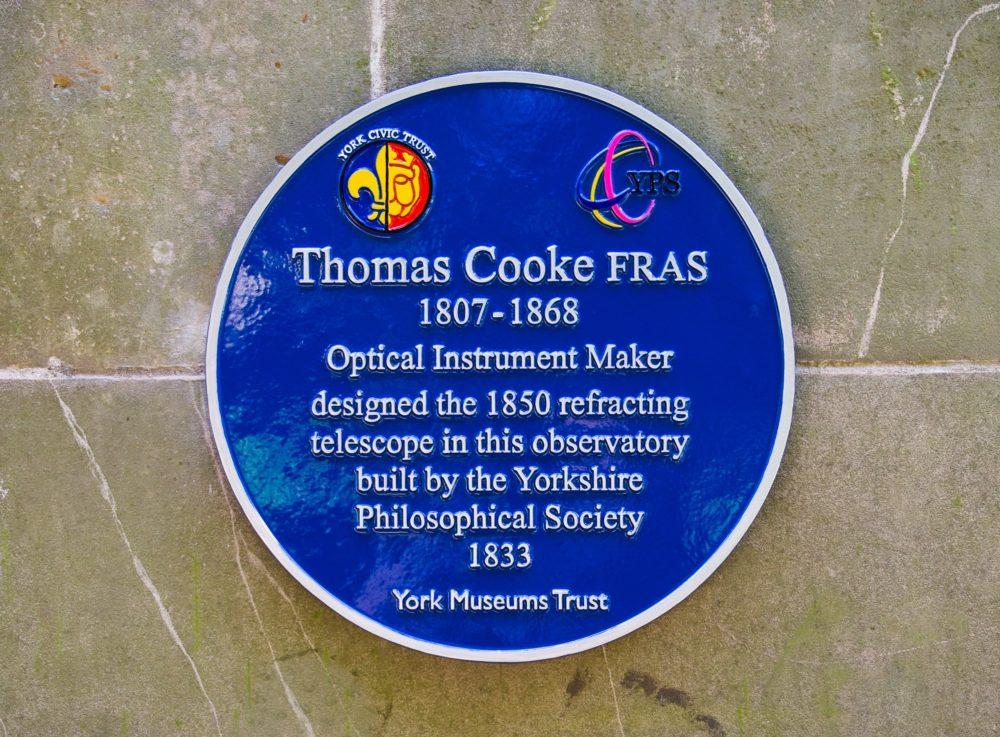 The Thomas Cooke plaque