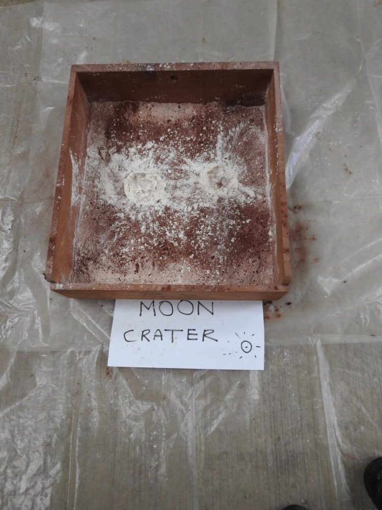 Make a moon crater