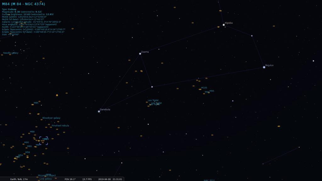 Leo & Virgo Galaxy Clusters