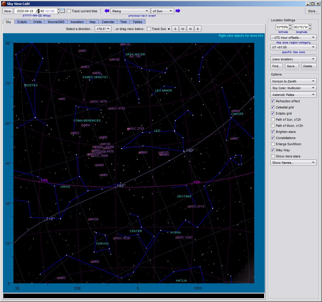 Deep sky objects in April 2020